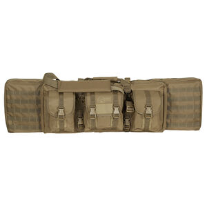 "Voodoo Tactical Enhanced Padded Rifle Weapon Case Single/Double Gun 42"" MOLLE Soft Case Coyote Tan Finish"
