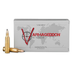 Nosler Varmageddon .22-250 Remington Ammunition 20 Rounds Tipped Flat Base 55 Grains 65155