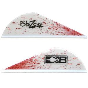Bohning Blazer True Color Vanes 6 Grains Synthetic White Splatter 100 Pack