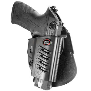 Fobus Evolution Holster Beretta 92,96,PX4 Storm/FN FNS,FNX/S&W Shield .45/Taurus G3 Right Hand Paddle Attachment Polymer Black