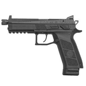 "CZ-USA P-09 Suppressor Ready Semi Auto Pistol 9mm Luger 5.15"" Threaded Barrel 21 Rounds High Tritium Three-Dot Sights Polymer Frame Matte Black Finish"