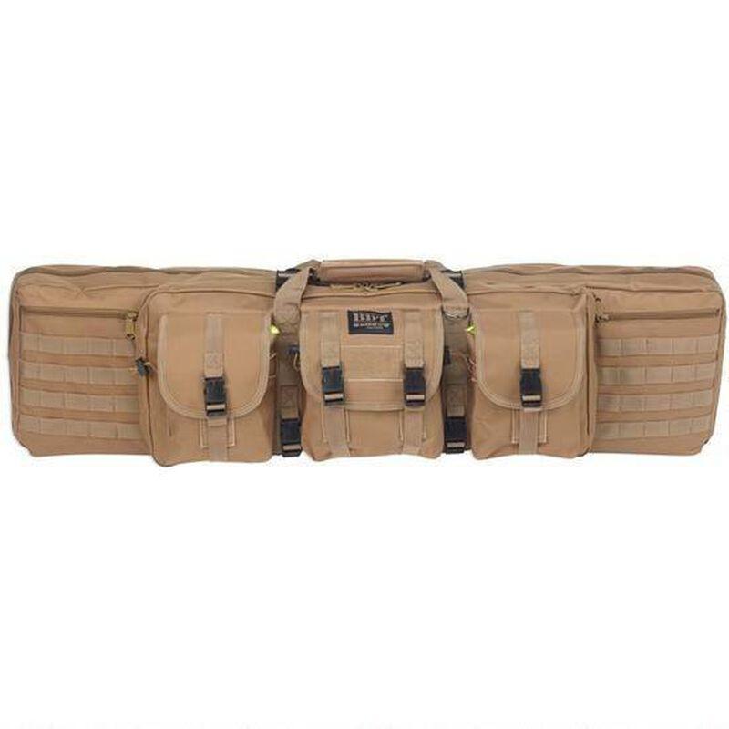 """Bulldog Tactical Double Rifle Case Polyester Canvas 43"""" Tan"""
