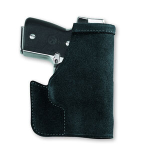 """Galco Pocket Protector S&W J-Frame 2"""" Pocket Holster Leather Ambidextrous Black PRO158B"""