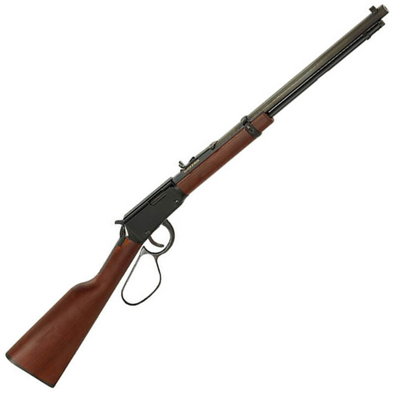 "Henry Repeating Arms Frontier Model Lever Action Rifle Rimfire .22 LR/L/S 20"" Octagon Barrel 16 Rounds Semi-Buckhorn Rear Sight Walnut Stock Blued Finish H001TL"