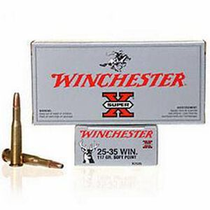 Winchester Super-X .25-35 Win Ammunition 20 Rounds 117 Grain Power-Point SP 2230fps