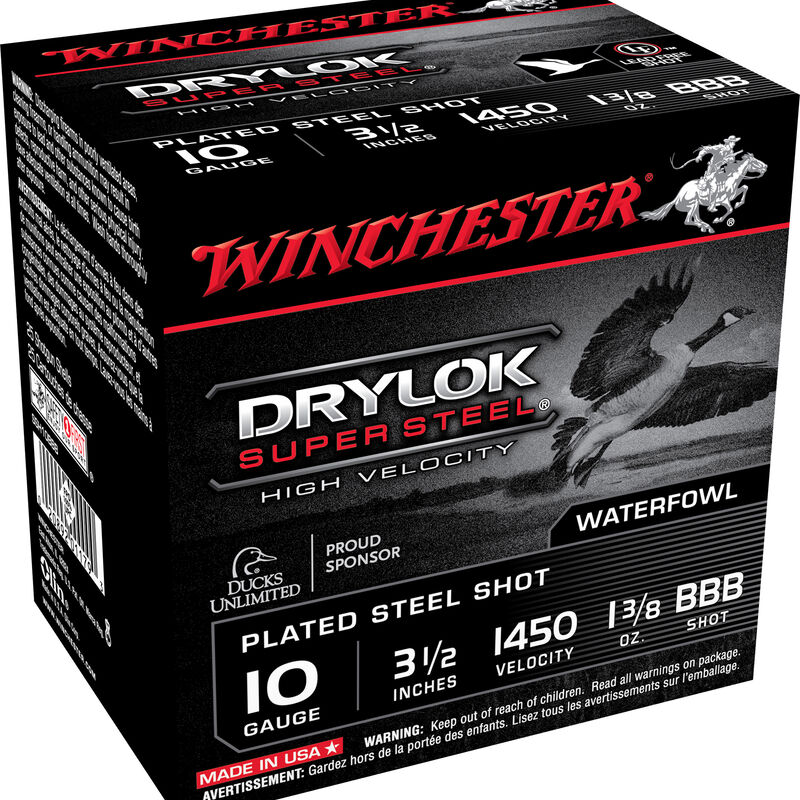 "Winchester Drylok Steel 10ga 3-1/2"" BBB 1-3/8oz 25 Rnd Box"