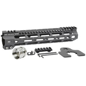 "Midwest Industries AR-15 10.50"" Ultra Lightweight One Piece Free Float Hand Guard M-LOK Compatible 6061 Aluminum Hard Coat Anodized Finish Matte Black"