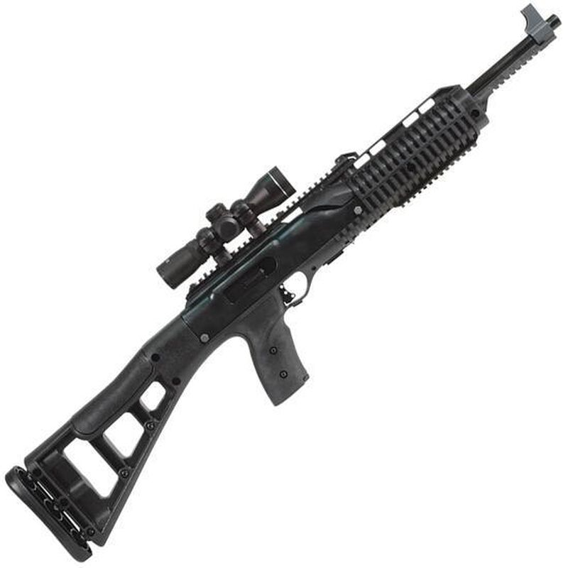 "Hi-Point 995TS4x Semi Automatic Carbine 9mm 16.5"" Barrel 10 Rounds Includes 4x Riflescope Black Polymer Skeletonized Stock"