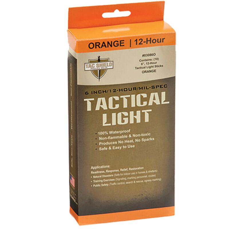 """Tac Shield Tactical Light Stick 6"""" Orange 10 Pack"""
