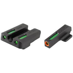 TRUGLO TFX Pro Kahr K/M/P/PM/T/TP Models Front and Rear Set Green TFO Night Sights Orange Ring Steel Black TG13KA1PC