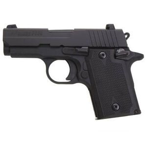 "SIG Sauer P938 Semi Automatic Pistol 9mm Luger 3"" Barrel 6 Rounds Alloy Frame Rubber Grip Panels Nitron Finish Night Sights 938-9-BSS-AMBI"