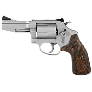 "S&W Model 60 Pro Series .357 Magnum Revolver 3"" Barrel 5 Rounds Wood Grips Matte Stainless Steel Finish"