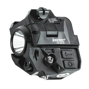 iProTec RM185LSG RC White Light & Green Laser Combo Fits Subcompact Handgun 185 Lumen Rechargeable Rail Mount Black