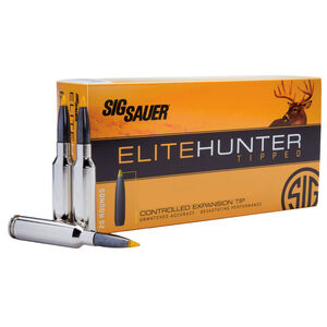 SIG Sauer Elite Hunting Tipped 6.5 Creedmoor Ammunition 20 Rounds 130 Grain Polymer Tipped Projectile 2850 fps