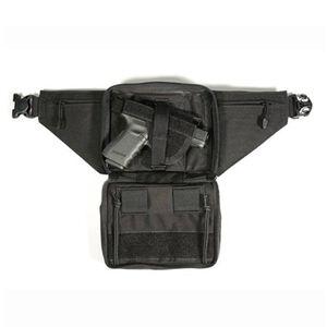 BLACKHAWK! Concealed Weapon Fanny Pack Medium Ambidextrous Fits Medium Revolvers and Compact Autos Nylon Black