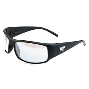 Smith & Wesson Accessories M&P Thunderbolt Shooting Glasses Black Frame Clear Mirror Lens