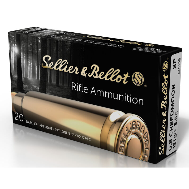 Sellier & Bellot 6.5 Creedmoor Ammunition 20 Rounds 131-Grain Soft Point Projectile