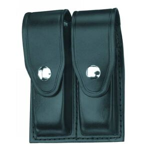 Gould & Goodrich Double Magazine Case Pouch Leather High Gloss Chrome Snap Black H627-7CLBR
