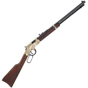 "Henry Golden Boy Deluxe 3rd Edition Lever Action Rifle .17 HMR 20"" Octagonal Barrel 11 Rounds Engraved Receiver Walnut Stock Blued H004VD3"