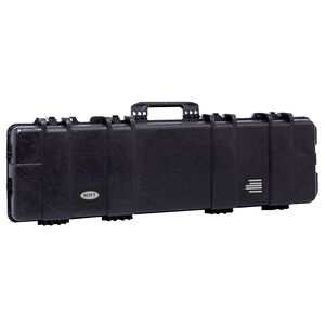 "Boyt H48SG Single Long Gun Case 50""x12.5""x5"" Water Resistant O-Ring Full Length Gasket High Density Egg Crate Foam Injection Molded Hard Case Matte Black Finish"