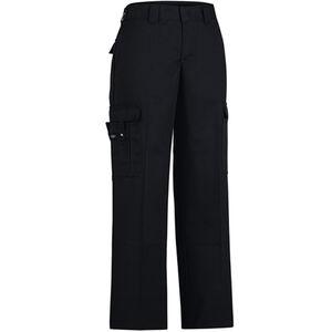 "Dickies Women's Flex Comfort Waist EMT Pants Poly/Cotton Twill Size 14 with 37"" Unhemmed Inseam Black FP2377BK 14UU"