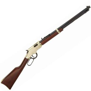 "Henry Repeating Arms Golden Boy Lever Action Rifle Rimfire .22 LR/L/S 20"" Octagon Barrel 16 Rounds Semi-Buckhorn Rear Sight Walnut Stock Brasslite Receiver Blued Finish"