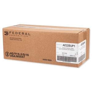 Federal American Eagle Supressor .22LR Ammunition CPRN 45 Grain 970fps