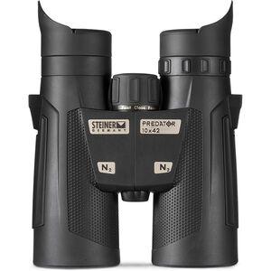 Steiner Predator1042 Binoculars 10x42mm Lightweight Roof Prism Makrolon Housing NBR Rubber Armor Black