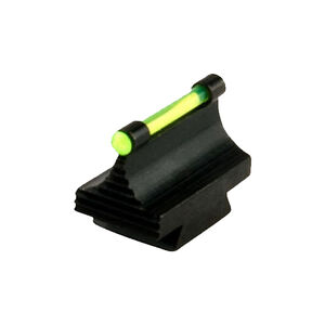 "TRUGLO Rifle Front Sight 3/8"" Dovetail .500"" Height, Green Fiber Optic Steel Black TG95500RG"