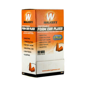 Walker's Ear Plugs NRR 32dB Rated Individually Packed Orange