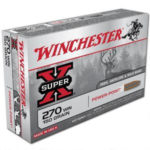 Winchester Super X .270 Win Ammunition 20 Rounds, PP, 150 Grains