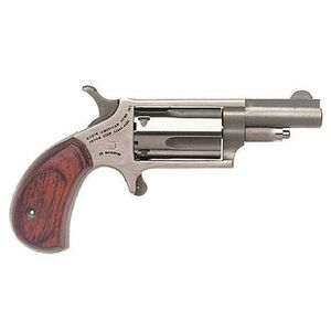 "NAA Mini Revolver .22 Magnum 1-5/8"" Barrel 5 Rounds Rosewood Grips Stainless Steel"