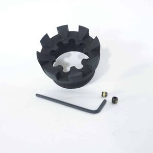 Unique-ARs AR-15 Spiked Sprocket Cap Aluminum Black