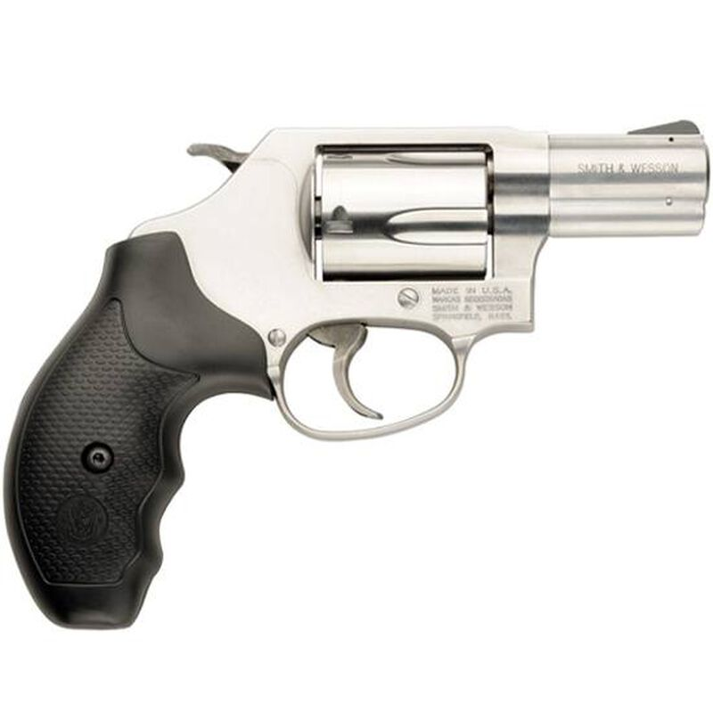 """S&W Model 60 Revolver .357 Magnum 2.125"""" Barrel 5 Rounds Fixed Sights Rubber Grips Stainless Finish 162420"""