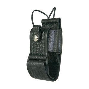 Boston Leather 5610 Multi-Adjustable Radio Holder Leather Basket Weave Black 5610-3