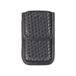 "Bianchi  7937 AccuMold Elite Smartphone Case Size 1 Fits phones up to 3"" wide x 4.75"" Long Basket Weave Black Belt Clip"