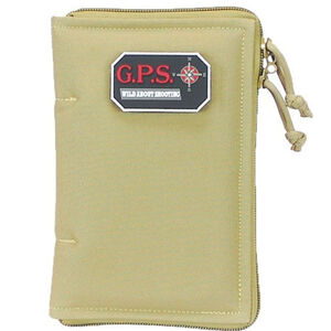 G-Outdoors Medium Pistol Sleeve Lockable Nylon Tan