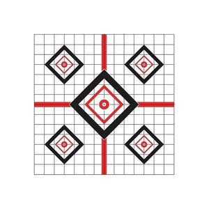 "Pro-Shot 16""x16"" Red Diamond Precision Sight In Target"