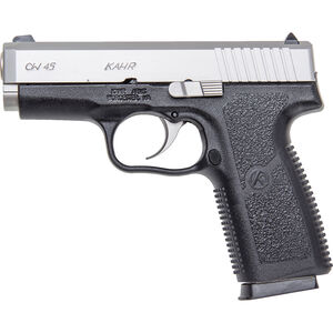 "Kahr CW45 Semi Auto Handgun .45 ACP 3.64"" Barrel 6 Rounds White Bar Dot Sights Polymer Grip Frame Matte Stainless Slide CW4543"