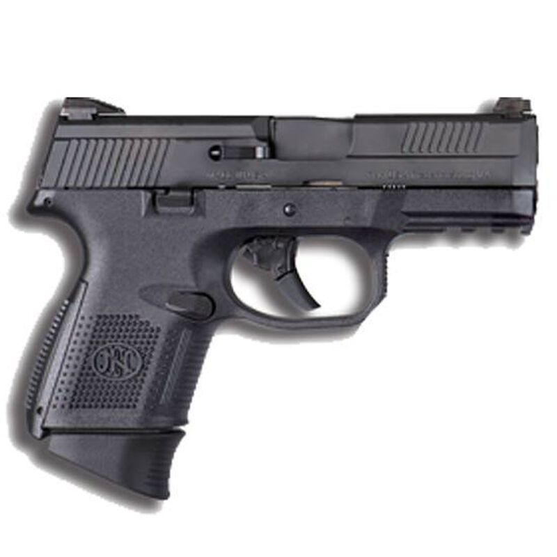 "FN FNS-9 Compact Semi Auto Pistol 9mm Luger 3.6"" Barrel 17 Rounds Manual Safety Fixed 3-Dot Sights Polymer Frame Black Finish 66770"