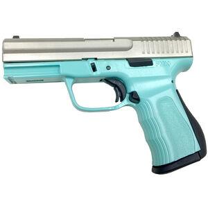 "FMK 9C1 Gen 2 Semi Auto Pistol 9mm 4"" Barrel 14 Rounds Polymer Frame Light Blue/Silver"