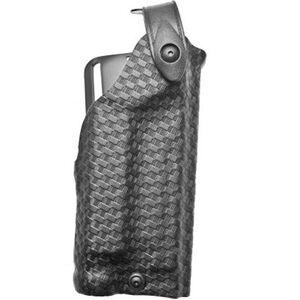 Safariland 6280 SLS Level II Retention Duty Holster Mid Ride Right Hand GLOCK 17, 22 with Light, Basket Weave Black 6280-8321-81