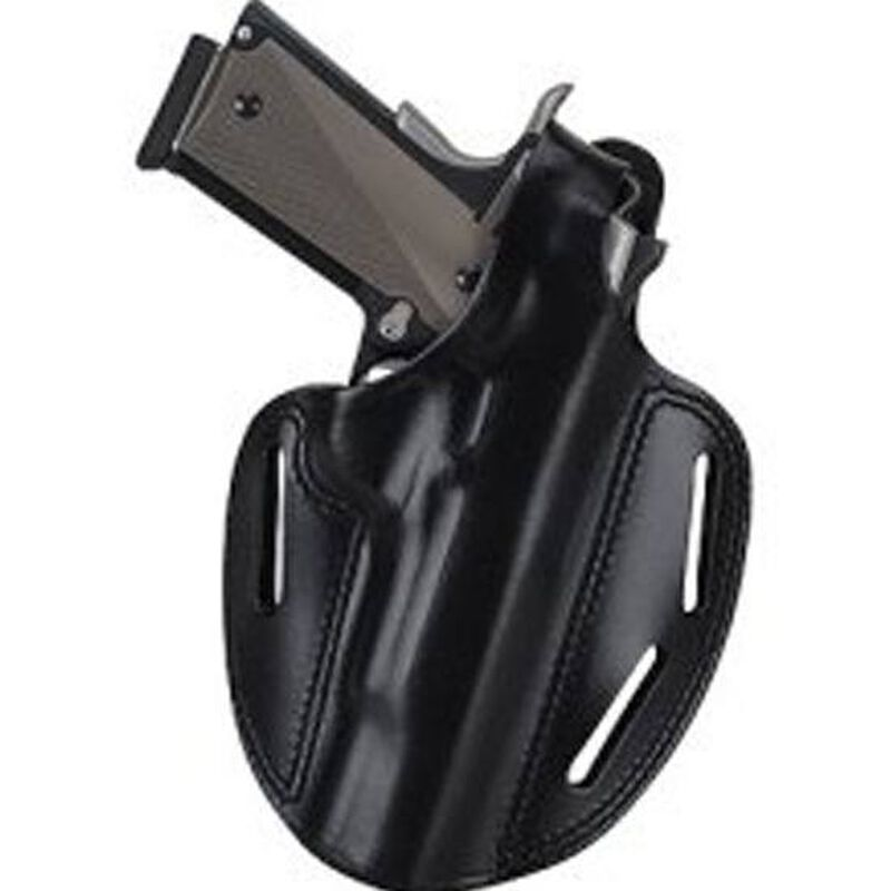 """Bianchi 7 Shadow 2 Holster Right Hand Ruger SP101 2.5"""", 3"""", and S&W J-Frame 3"""" Barrel Leather Black"""