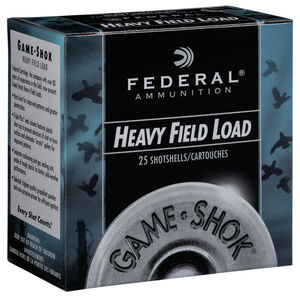 "Federal Game Shok Upland Heavy Field Load 12 Gauge Ammunition 2-3/4"" #7.5 Lead Shot 1-1/8 Ounce 1255 fps"