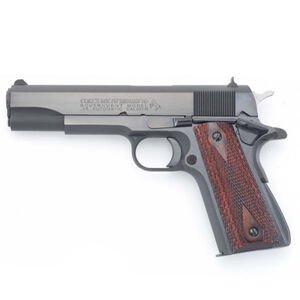 "Colt 1911 Series 70 Government Model Semi Auto Pistol .45 ACP 5"" Barrel 7 Rounds High Profile Standard Sights Diamond Checkered Rosewood Grips Blued Finish"