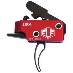 Elftmann Tactical AR-15 ELF Match Trigger Curved Drop-In Adjustable Red/Black MATCH-C