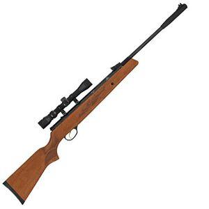 "Hatsan Model 95 Vortex Air Rifle .25 Caliber Gas Piston 17.7"" Barrel 1 Round 650 fps Walnut Stock 3-9x32 Scope Black HC9525VORT"