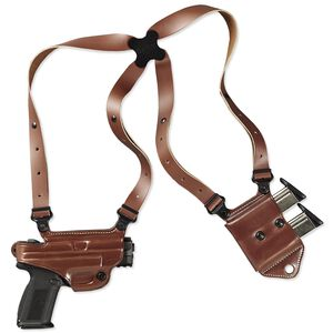 Galco Miami Classic II GLOCK 17, 19, 26, 34, 22, 23, 27, 35, 31, 32, and 33 Shoulder Holster System Right Hand Leather Tan MCII224