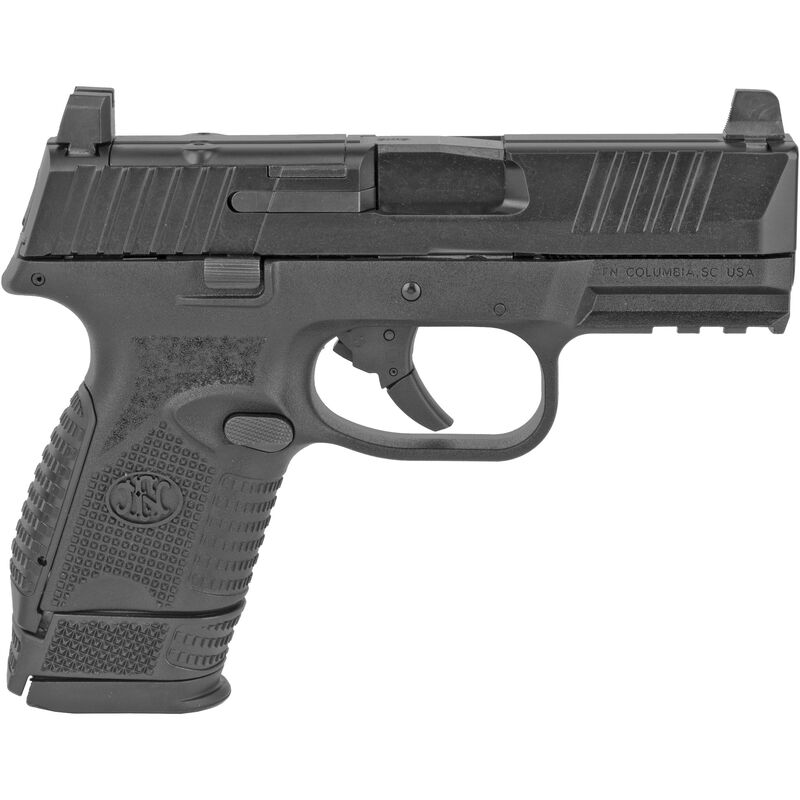 """FNH FN-509 Compact MRD 9mm Luger Semi Auto Pistol 3.7"""" Barrel 15 Rounds Optics Ready No Manual Safety Ambidextrous Controls Polymer Frame Black"""