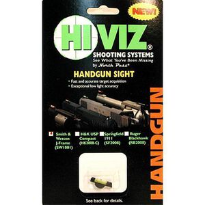 HiViz S&W J Frame Green Fiber Optic Pinned Front Sight SW1001-G